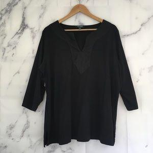 Ralph Lauren 3/4 Sleeve Tunic Top